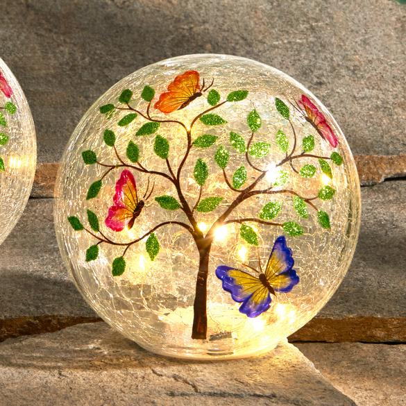 Boule à LED Arbre avec papillons