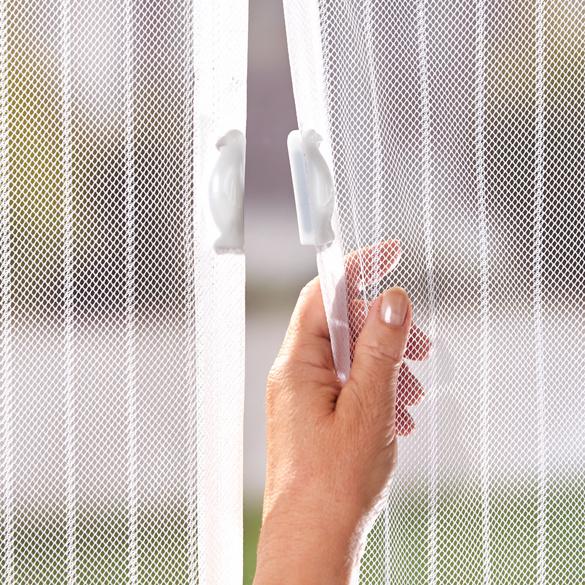 Rideau anti-moustiques, blanc