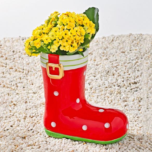 Pot de fleurs Botte, rouge