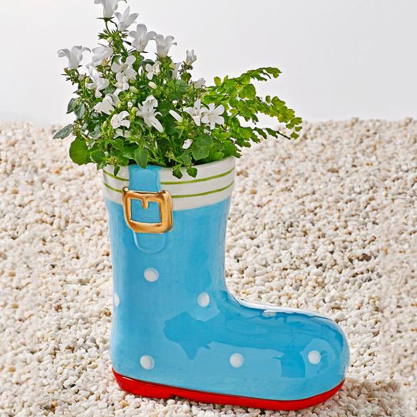 Pot de fleurs Botte, bleu