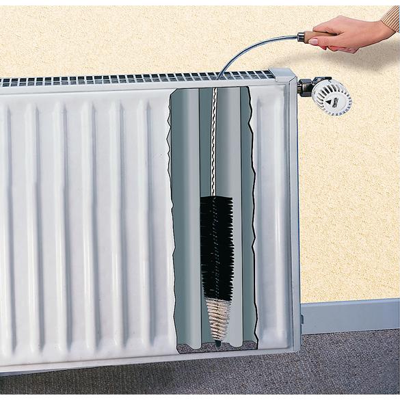 Brosse à radiateur plat