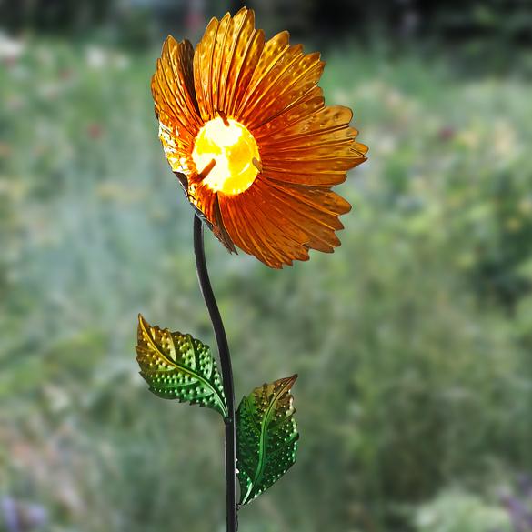 Lampe solaire Gerbera, jaune