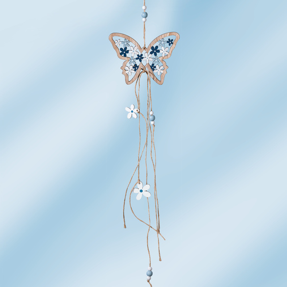 Suspension papillon, bleu