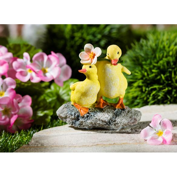Canards avec fleur