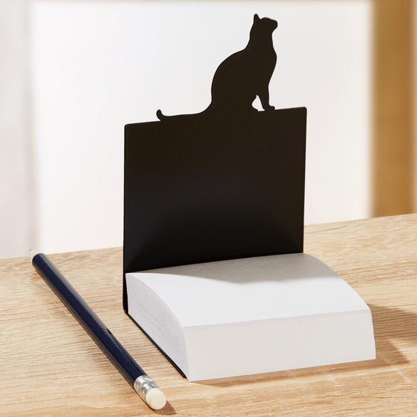 Support pour bloc-notes chat avec feuilles adhésives