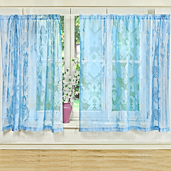 Rideaux bleu 140x140cm