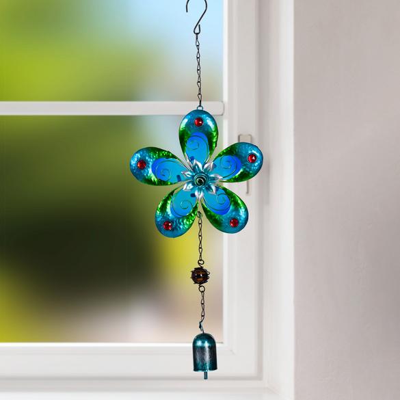 Carillon Fleur, bleu