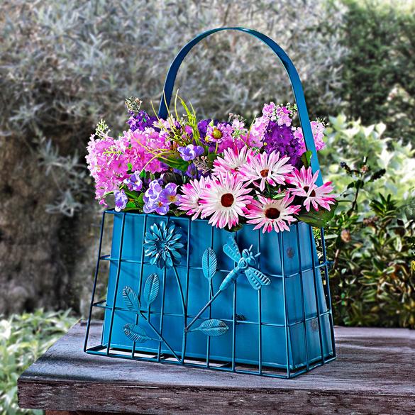 """Jardinière """"Cabas"""", turquoise"""