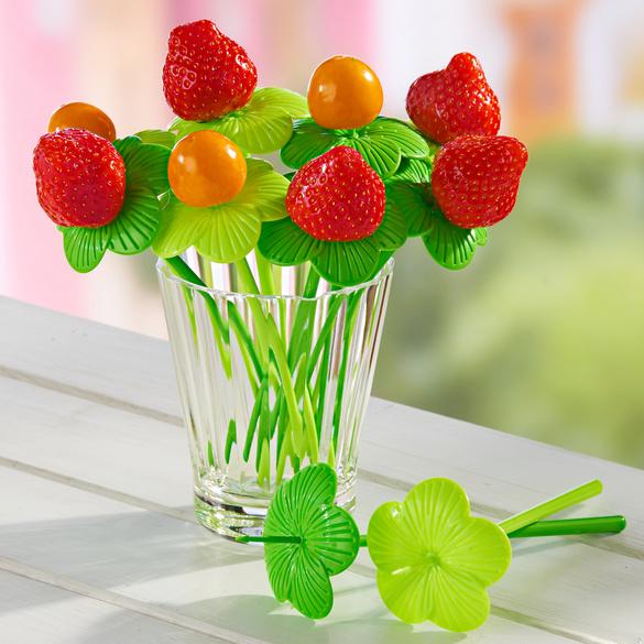 Lot de 10 piques à cocktails Fruits