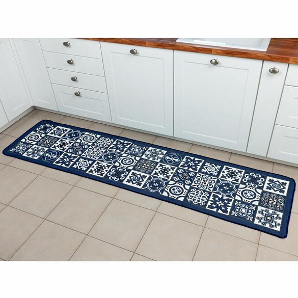 Tapis de cuisine bleu 60x120cm