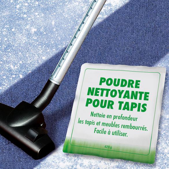 Poudre de nettoyage pour tapis