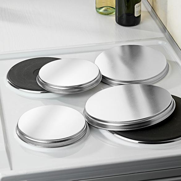 Lot de 4 couvercles pour plaques de cuisson