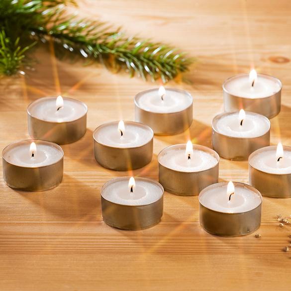 Lot de 10 bougies chauffe-plats, blanc