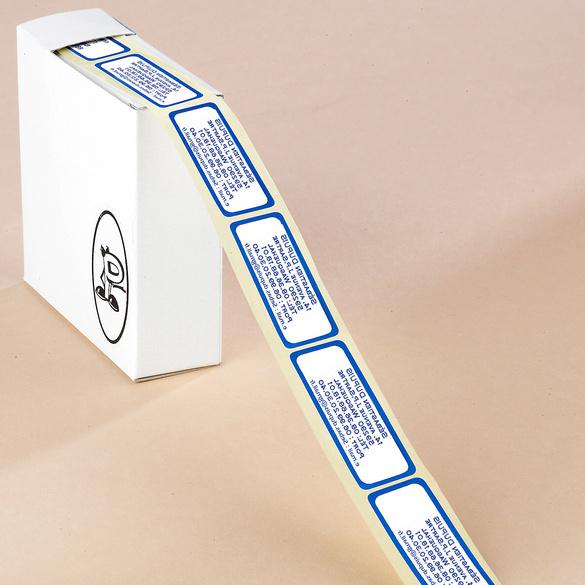 300 étiquettes effet métallique, bleu