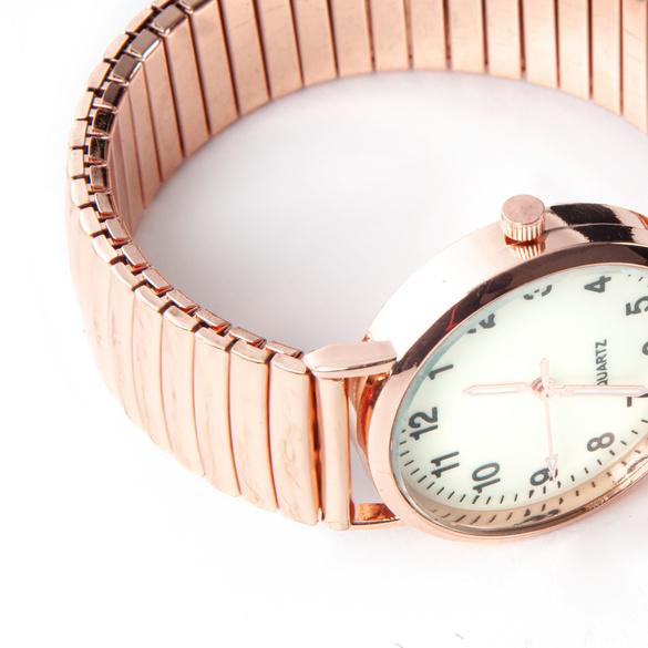 Montre-bracelet grand format, coloris or rose