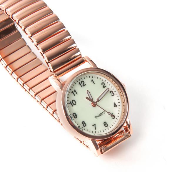 Montre-bracelet petit format, coloris or rose