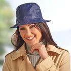 Chapeau de pluie pliable, bleu