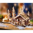 Déco forestière avec maisonnette à encens