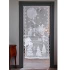 Rideau de porte LED Village Père Noël