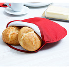 Réchauffe-pain spécial micro-ondes, rouge