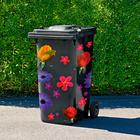 Autocollants pour poubelles, Fleurs
