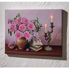 Tableau lumineux Roses