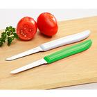 Lot de 2 couteaux éplucheurs, blanc + vert