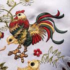 Surnappe Coq, 85 x 85 cm