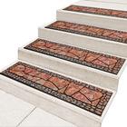 Lot de 2 tapis pour marches, terraccota