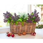 Lot de 3 plantes artificielles pour balcon Bruyère