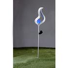 Lampe solaire design Flamme, B-bleu