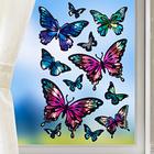 Décoration de fenêtre Papillons, violet