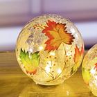 Boules en verre 15 cm Feuilles
