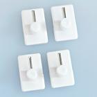 4 supports de tringles à rideau, blanc