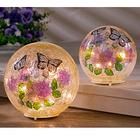 Boule LED papillon 15 cm
