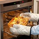 1 paire de gants de cuisine, coloris argenté