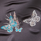 Lot de 2 applications thermocollantes Papillon strass