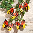 Lot de 4papillons XL à pince, rouge