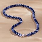 Collier de perles, bleu