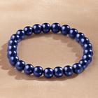 Bracelet de perles, bleu