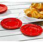 """Petite assiette """"Pois"""", rouge-blanc"""