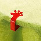 4 pinces pour nappe « Main »