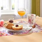 Ensemble set de table/dessous de verre Fleurs, 12pièces