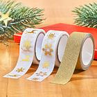 Lot de 3 rubans adhésifs Noël