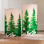 Bougie à LED Forêt hivernale 15 cm