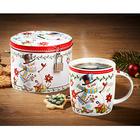Set cadeau mug et boîte en métal