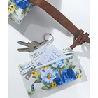 Sac + pochette Fleurs, bleu