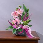 Composition d'orchidées sur pierre