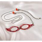 Lunettes +4,5δ avec chaîne, rouge