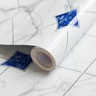 Protection anti-éclaboussures, blanc/bleu